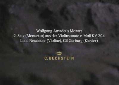 Wolfgang Amadeus Mozart: 2. Satz (Menuetto) aus der Violinsonate e-Moll KV 304 Iberg