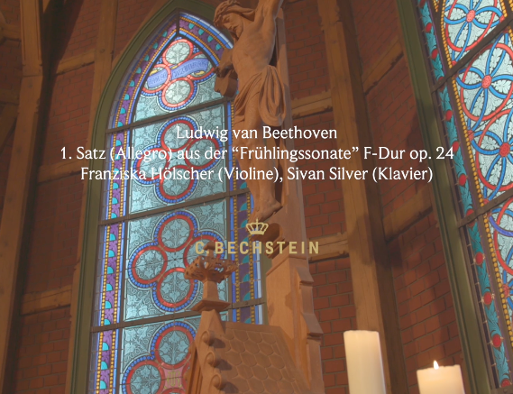 "Ludwig van Beethoven: 1. Satz (Allegro) aus der ""Frühlingssonate"" F-Dur op. 24 Franziska Hölscher (Violine), Sivan Silver (Klavier) Trinitatiskirche"